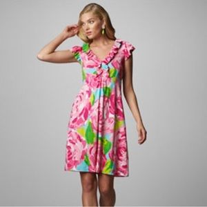 Lilly Pulitzer Hotty pink first impressions dress
